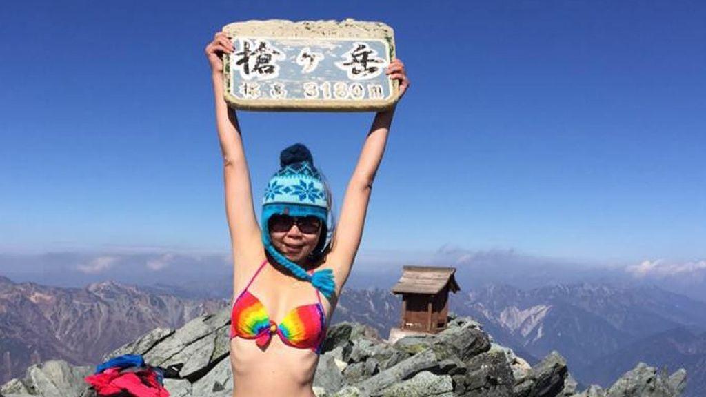 Fallece congelada la escaladora Gigi Wu tras intentar subir una montaña en bikini