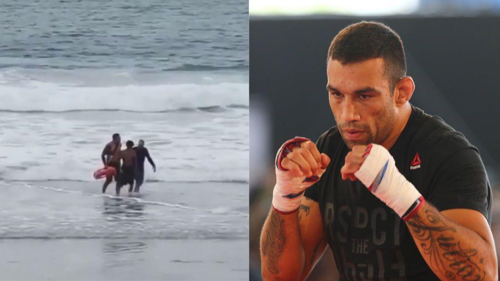 El excampeón de la UFC, Fabricio Werdum, salva la vida a dos bañistas en California