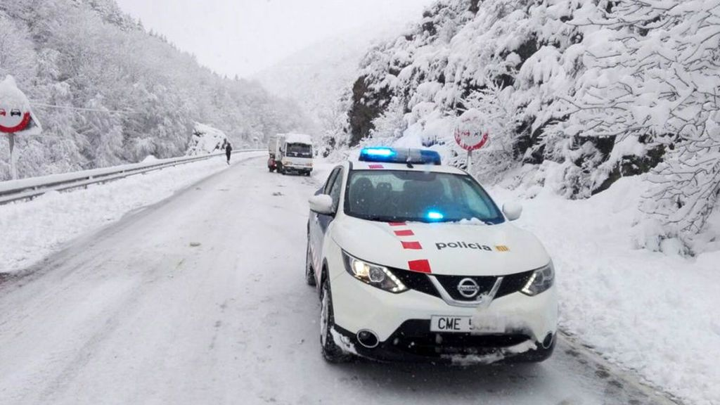 Temporal de nieve: Un millar de estudiantes  de Cataluña y Aragón no pueden ir a clases