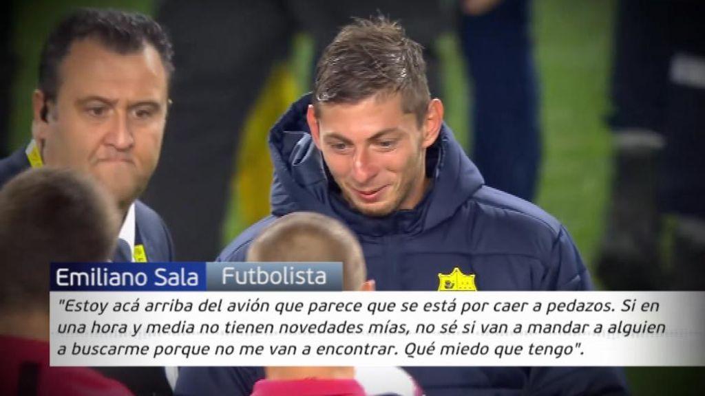 """El último audio que se tiene del jugador desaparecido Emiliano Sala: """"Papá, qué miedo tengo"""""""