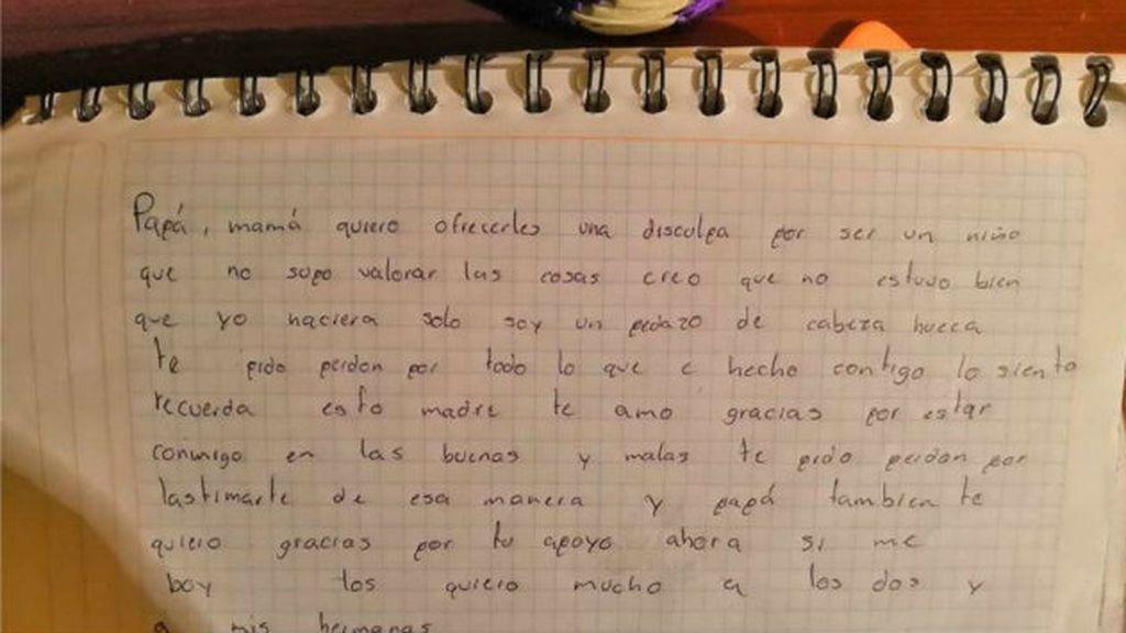 """La devastadora carta de un joven antes de suicidarse: """"No estuvo bien que yo naciera"""""""