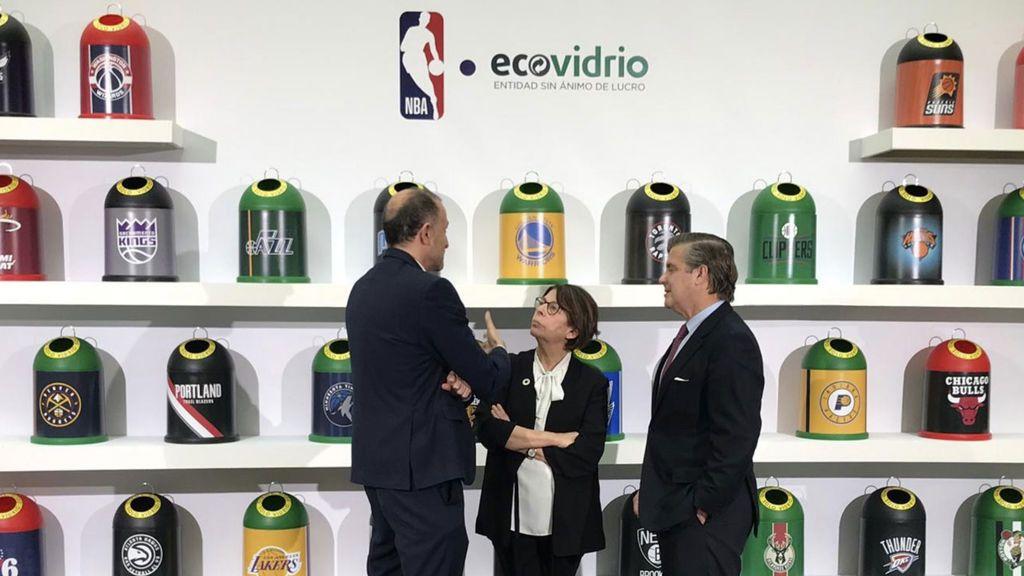La NBA crearán en España la primera cancha de baloncesto con vidrio reciclado