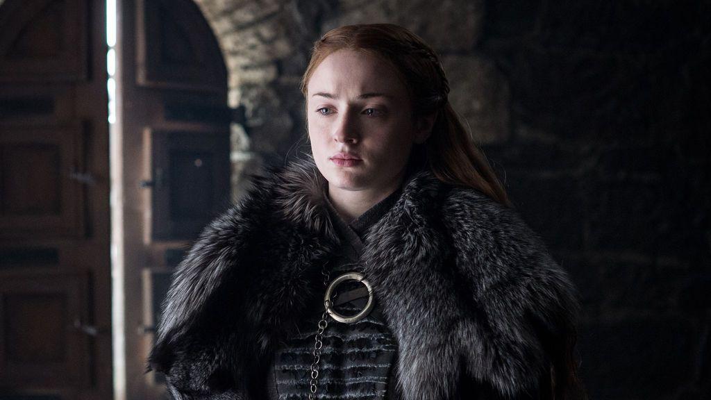 Sophie Turner, interpretando a Sansa Stark en la séptima temporada de 'Juego de tronos'.