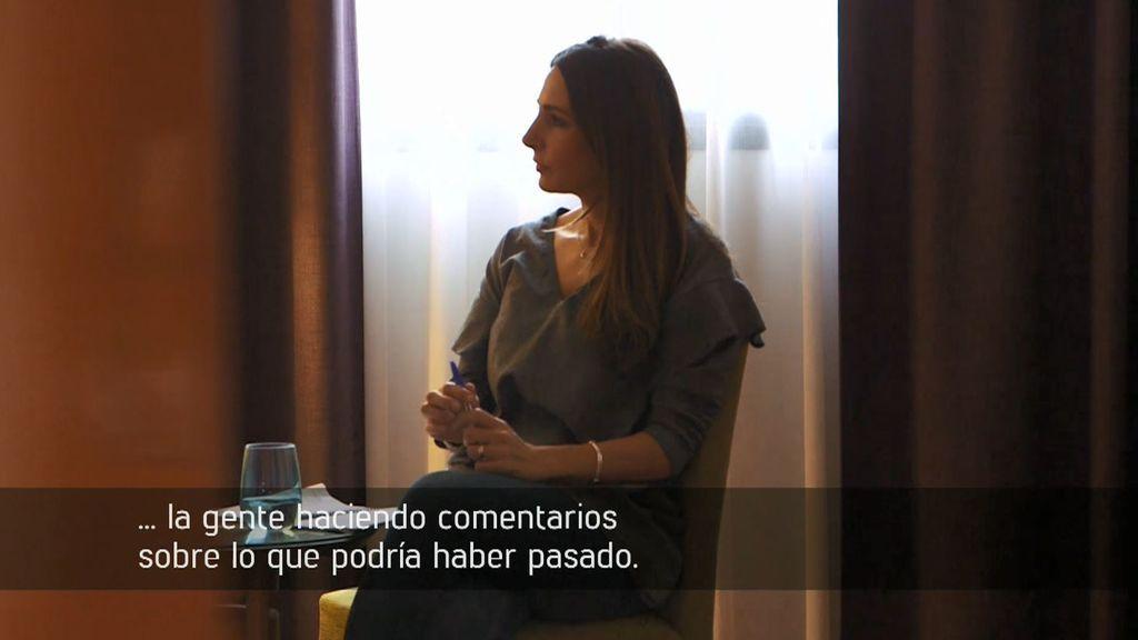 Los nervios de María García y no desmiente una relación con Francisco Javier Delgado