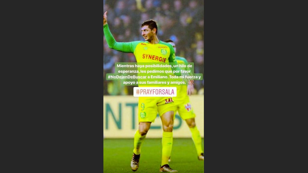 """Messi se suma a la petición por Emiliano Sala: """"Mientras haya esperanza no dejen de buscarlo"""""""