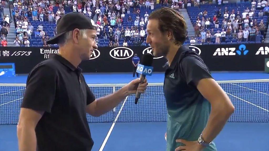 """La respuesta de Pouille a McEnroe tras preguntarle por su entrenadora: """"No se trata de ser hombre o mujer, si no de saber de tenis"""""""