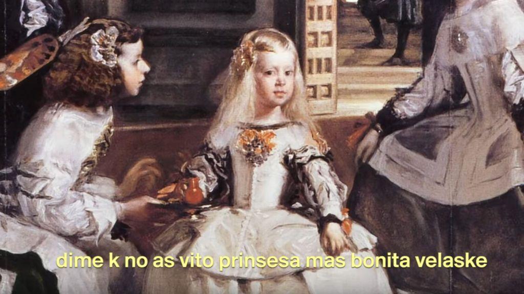 """Frame del vídeo """"Velaske yo soi guapa""""."""