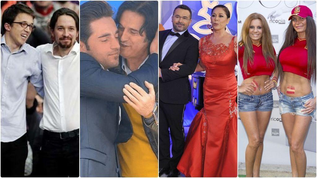 De Pablo Iglesias y Errejón a Bustamante y Poty, amistades VIP rotas en público