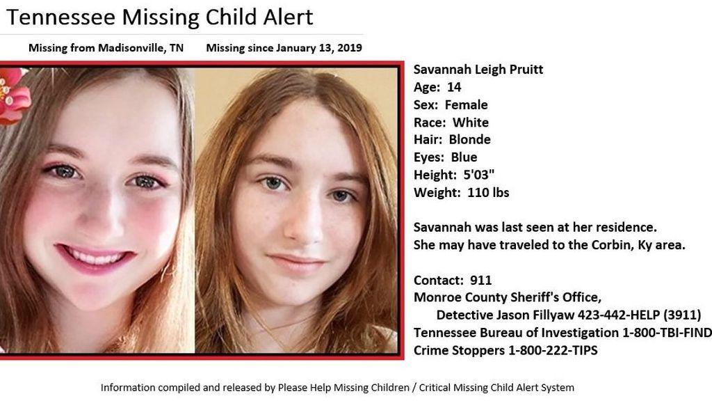 Se cumplen dos semanas de la desaparición de una niña de 14 años en Tennesse (EEUU)