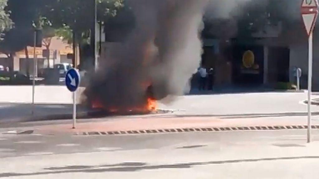 Conduce con su coche envuelto en llamas quintuplicando la tasa de alcohol en Reusr