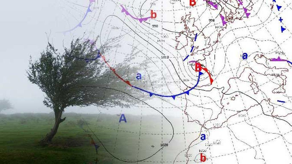 La borrasca nombrada 'Gabriel' entrará el martes en la península con rachas de hasta 130 km/h
