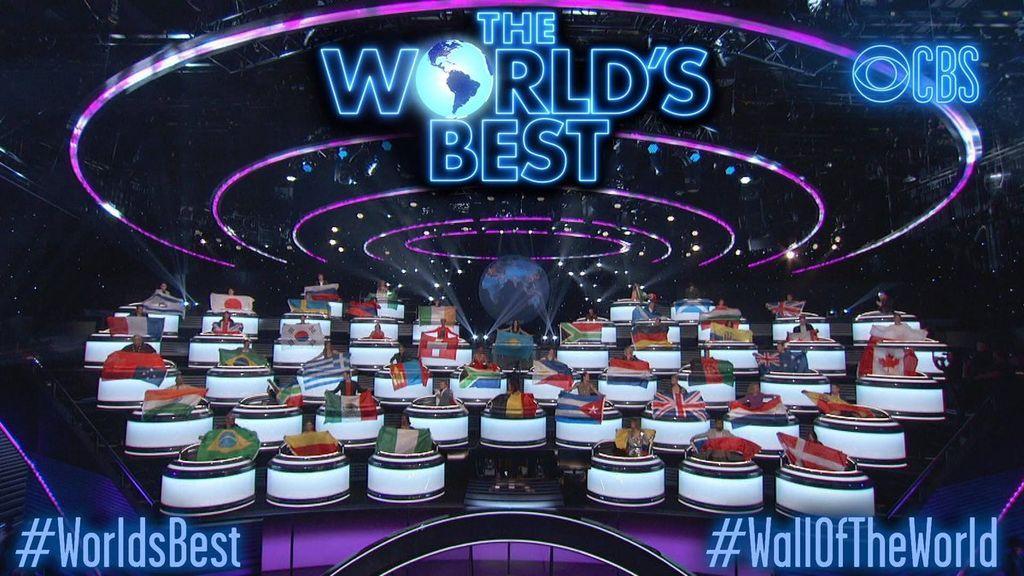 Banderas de los diferentes países que saldrán en 'The world's best', el nuevo programa de la cadena CBS.