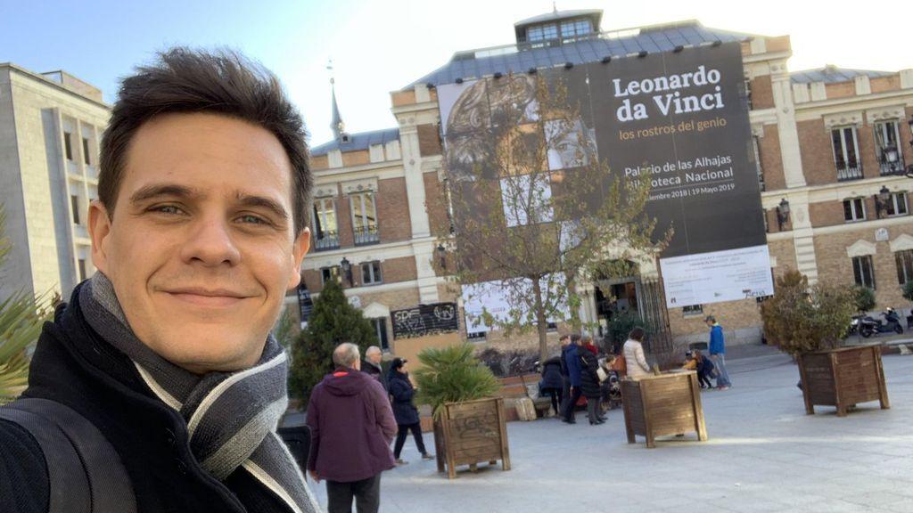 Christian Gálvez, en el Palacio de las Alhajas.