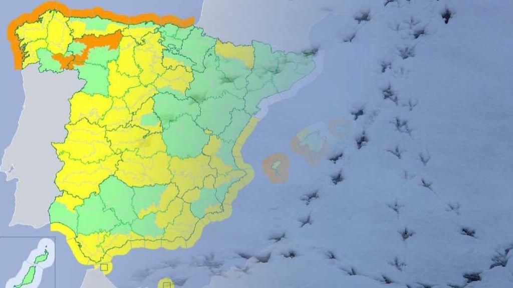 Olas de 8 metros y riesgo de inundación y deshielo: dos frentes seguidos dejan avisos en más de 30 provincias