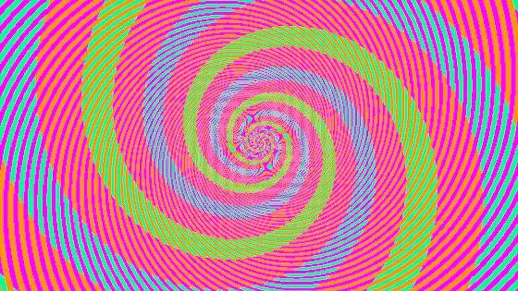 Tu cerebro a prueba: una espiral es verde pero la otra no es azul