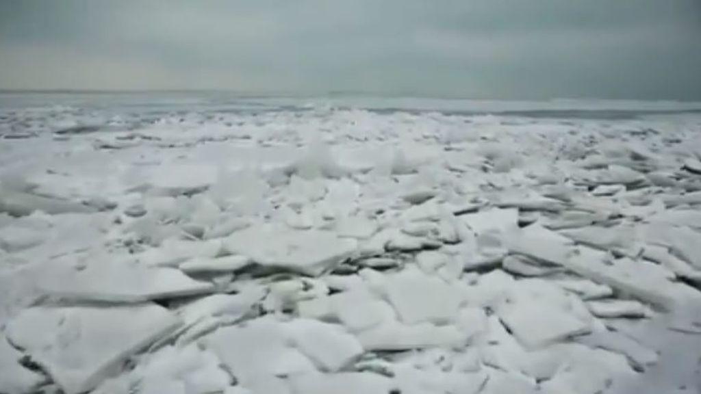 Ola de frío en Estados Unidos: paisajes árticos  y temperaturas de -30º que dan la sensación térmica de -50º