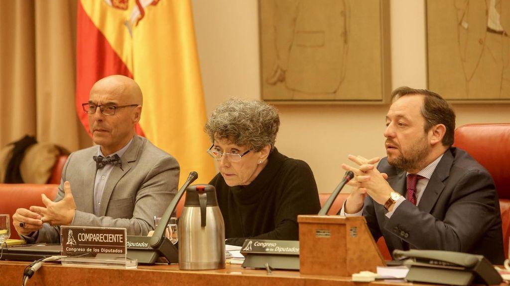 Rosa María Mateo durante la comparecencia sobre presupuestos en el Congreso