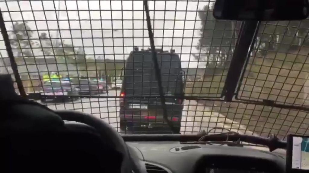Polémico vídeo del interior del furgón de la Guardia Civil que ha trasladado a Madrid a los presos catalanes