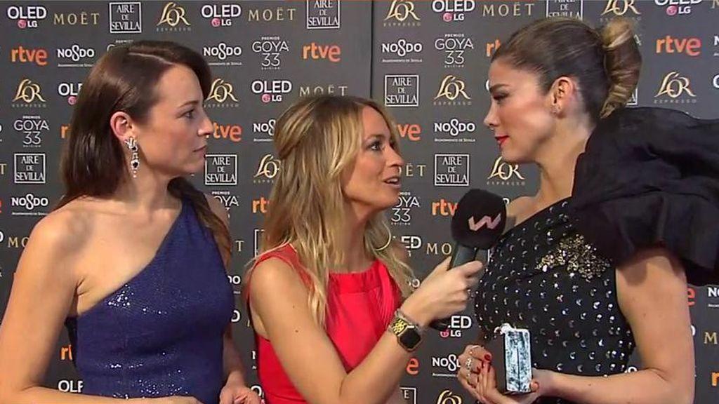 Juana Acosta y Leonor Watling: secretos de estilismo en la alfombra roja de los GOYA 2019