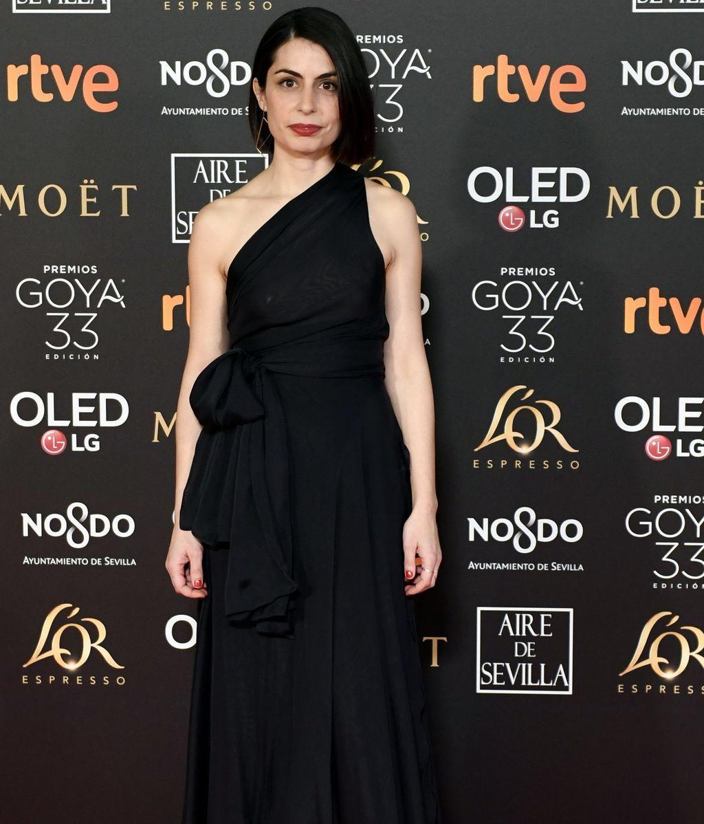 Celia Rico con vestido de Cortana