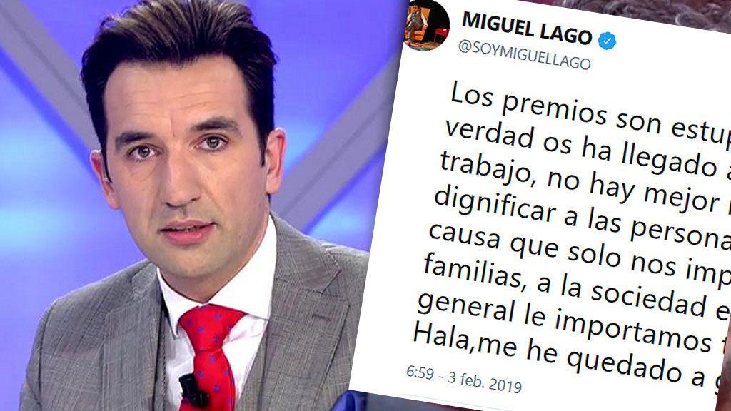 """Miguel Lago, sobre las personas con discapacidad: """"Los premios son estupendos pero si de verdad os ha llegado a corazón darles trabajo"""""""