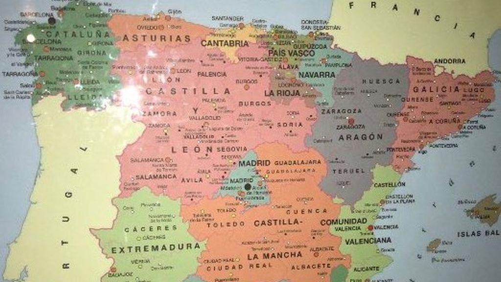 Este es el mapa de España que ha generado polémica en las redes