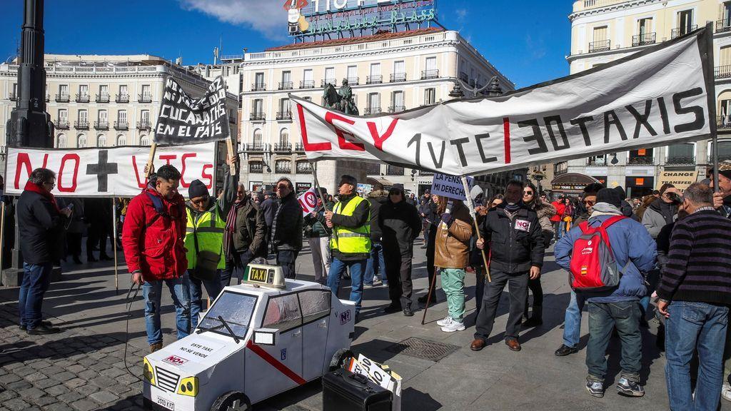 Los taxistas de Madrid,  15 días de huelga,  sin que la Comunidad de Madrid muestre interés en negociar