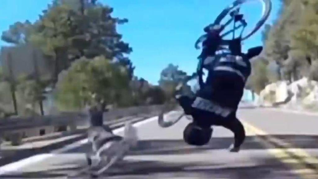 El brutal accidente del ciclista Reed Soehnel tras chocar contra un ciervo en pleno descenso