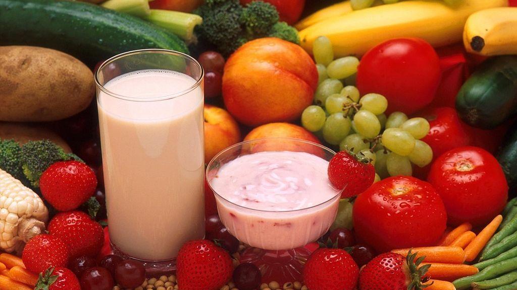 alimentos yogur leche