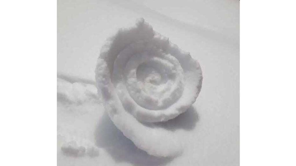 Aparecen rollos de nieve en Perú: cómo se forman