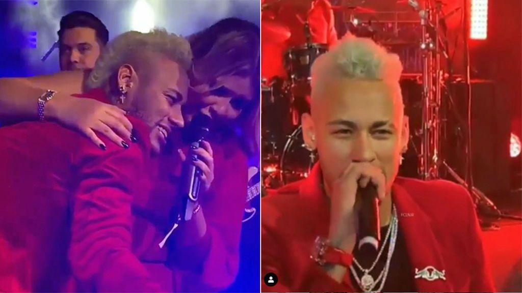 En silla de ruedas, dándolo todo y llorando por las sopresas: así celebró Neymar su 27 cumpleaños en París