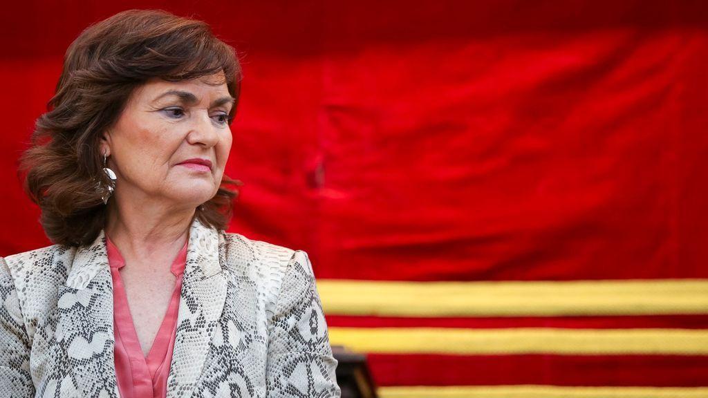 Carmen Calvo defiende la figura del relator y culpa de todo a la herencia de Rajoy