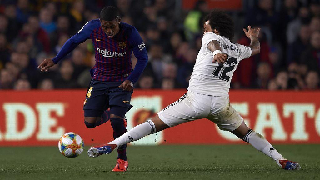 Marcelo no baja a defender en el gol del Barça y las redes se ceban con el brasileño