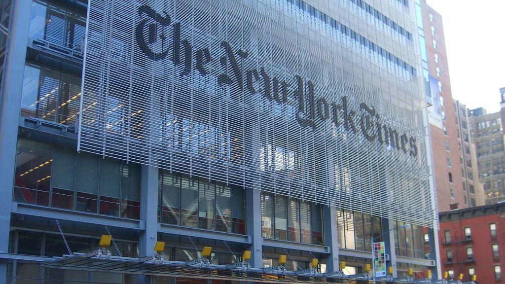 Edificio de The New York Times, en Manhattan, Nueva York.