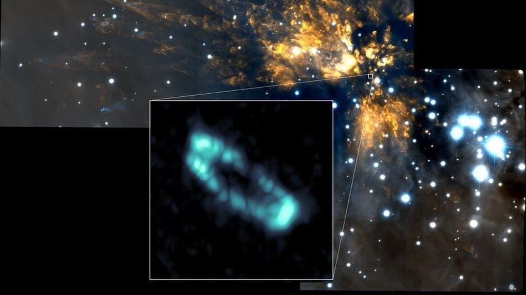 Hallazgo inusual en el entorno de una estrella: un anillo de sal rodea el astro