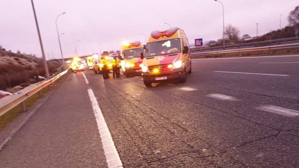 Muere un hombre atropellado en Madrid mientras cruzaba a pie la M-50
