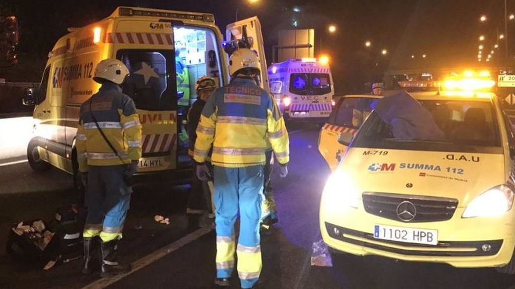 Muere una niña de 10 años y sus padres y hermanas resultan heridos en un accidente de tráfico en Pinto