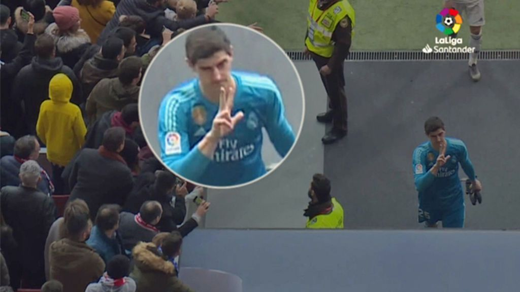 El gesto de Courtois por el que aficionados del Atlético piden la retirada de su placa del Metropolitano
