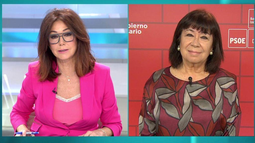 """Cristina Narbona: """"No se debatirá sobre la autodeterminación de Cataluña"""""""