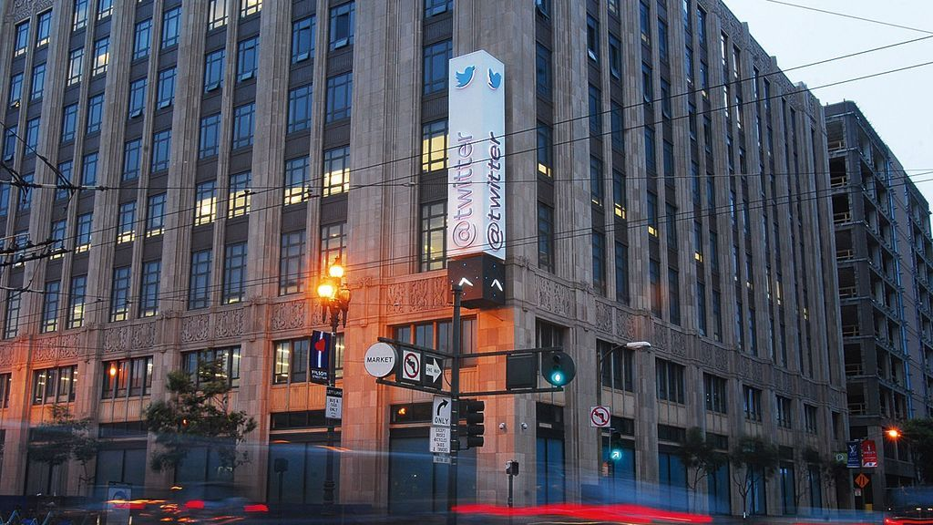 Sede central de Twitter, en San Francisco, California.