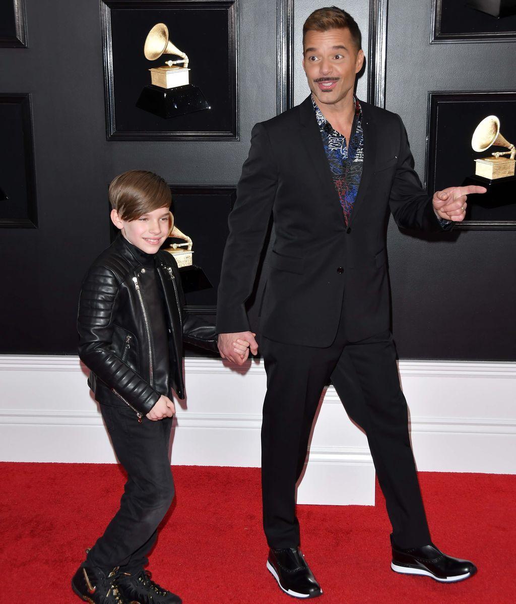 Ricky Martín y su hijo