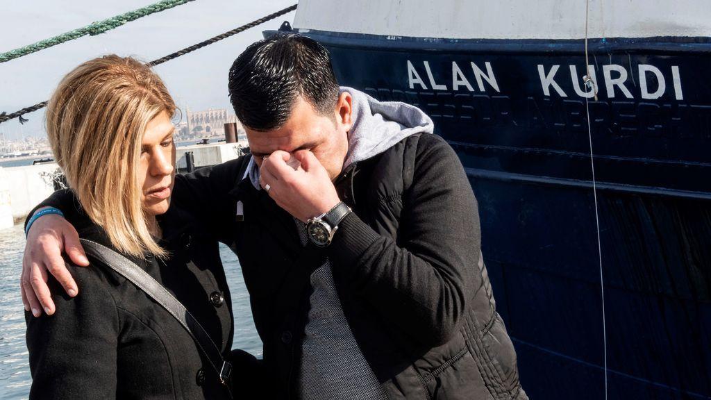 Un barco de rescate de refugiados homenajea a Alain Kurdi