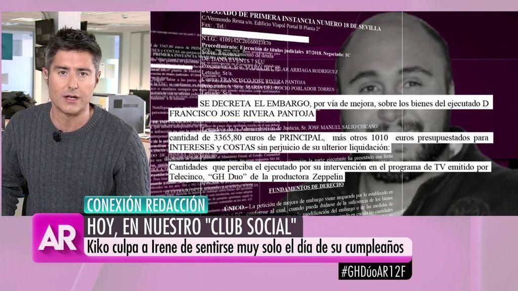 El sueldo que recibirá Kiko Rivera por participar en 'GHDÚO' ya ha sido embargado