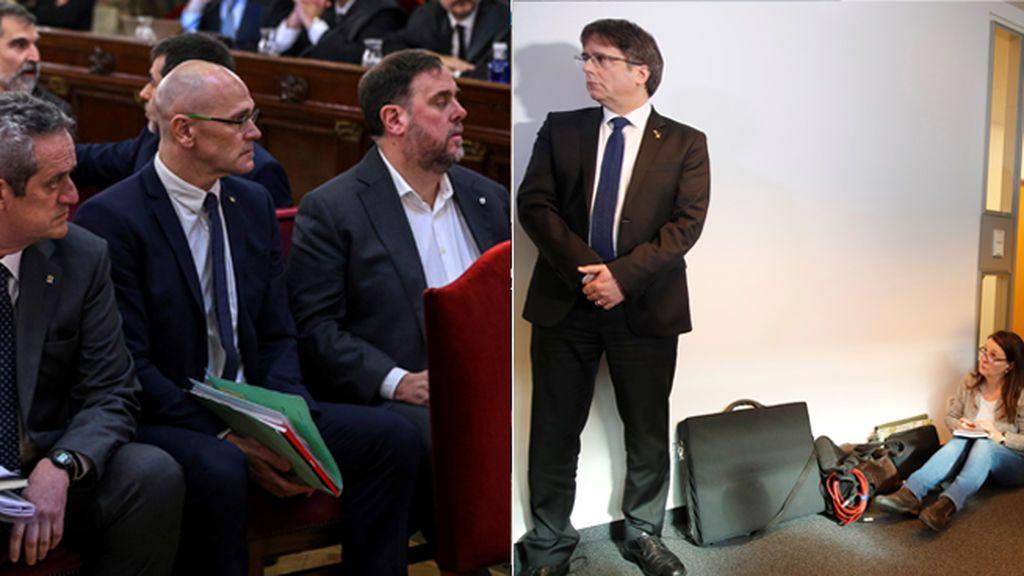 Puigdemont se convierte en la estrella del juicio del que huyó