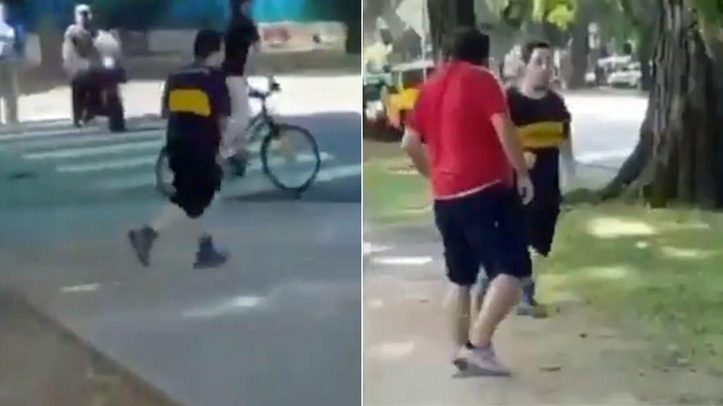 La brutal paliza a una aficionado de Boca Juniors que hacía deporte cerca del estadio de River