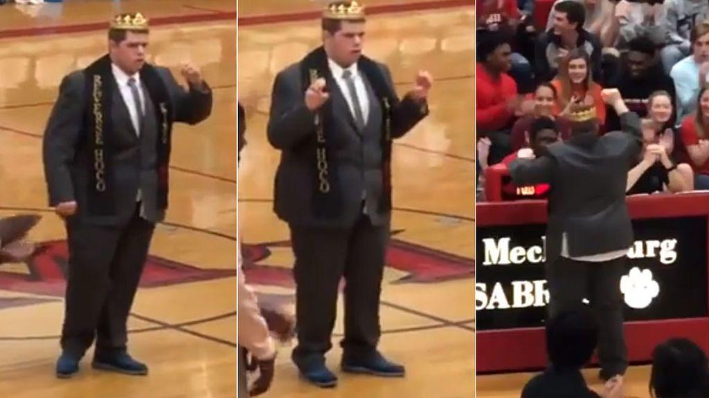 El baile de un niño con autismo en una cancha de baloncesto tras ser elegido el 'rey del instituto'