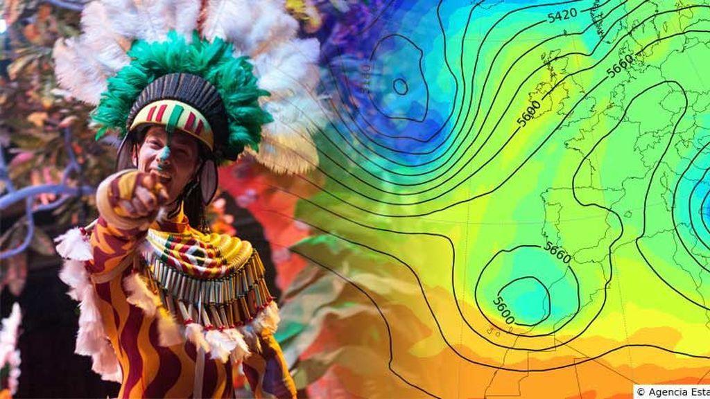 Carnavales canarios pasados por agua y viento: una borrasca afectará a las islas desde el jueves