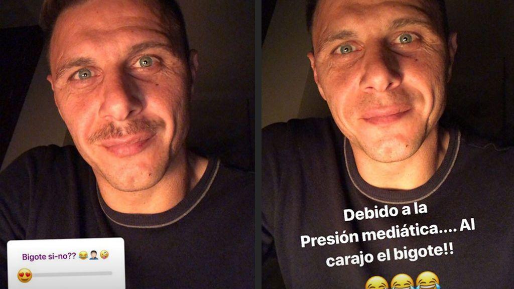 """""""Al carajo el bigote"""": Joaquín se afeita por petición popular tras hacer encuesta en Instagram"""