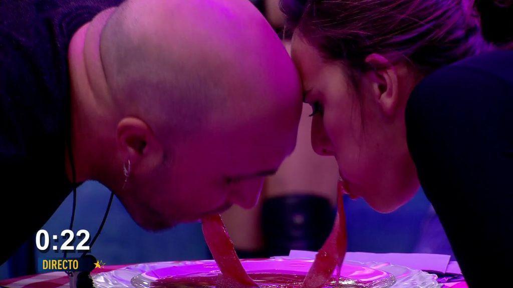 Irene y Kiko vuelven a conseguir la inmunidad tras ganar la prueba del espagueti dulce