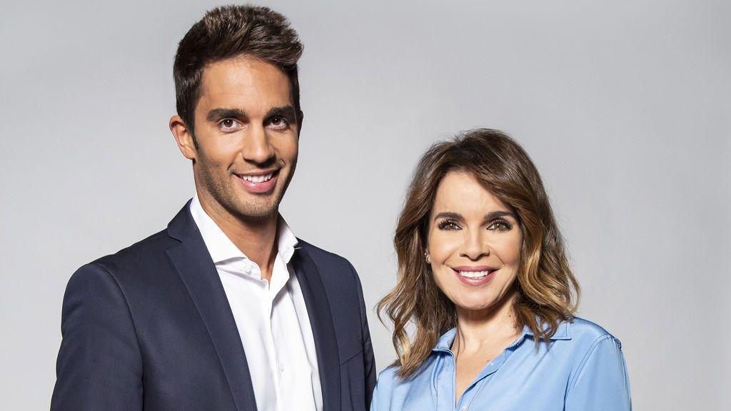 Santi Burgoa y Carme Chaparro, copresentador y presentadora de 'Cuatro al día'.
